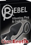 Vibrating Plug and Cock Ring (You2Toys - Rebel)